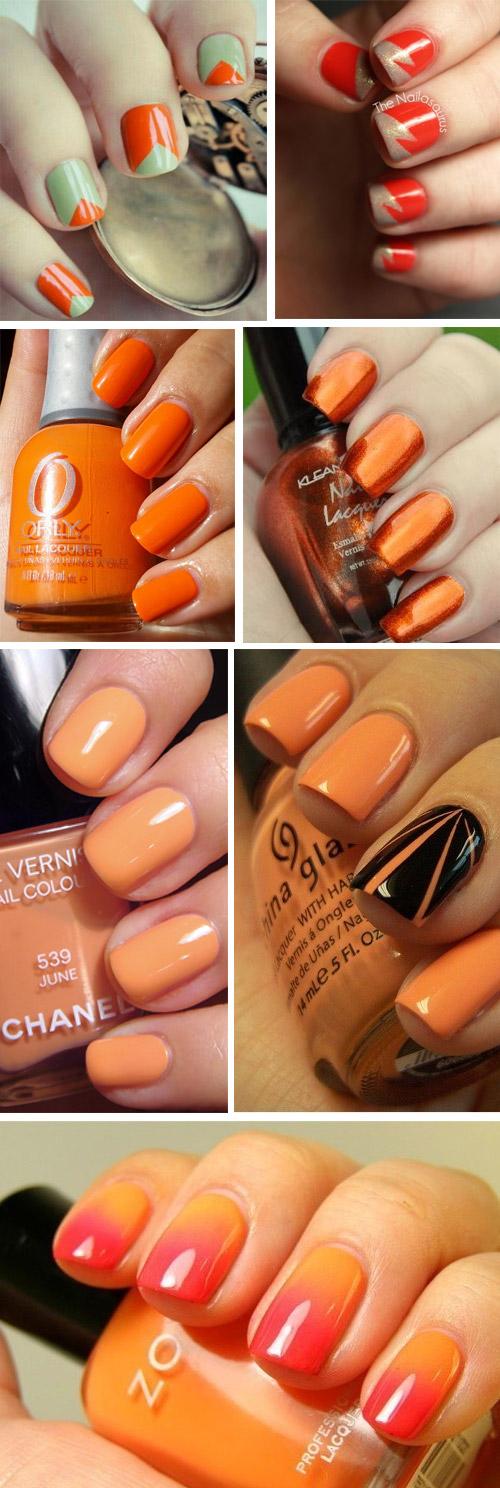 unghie-arancione