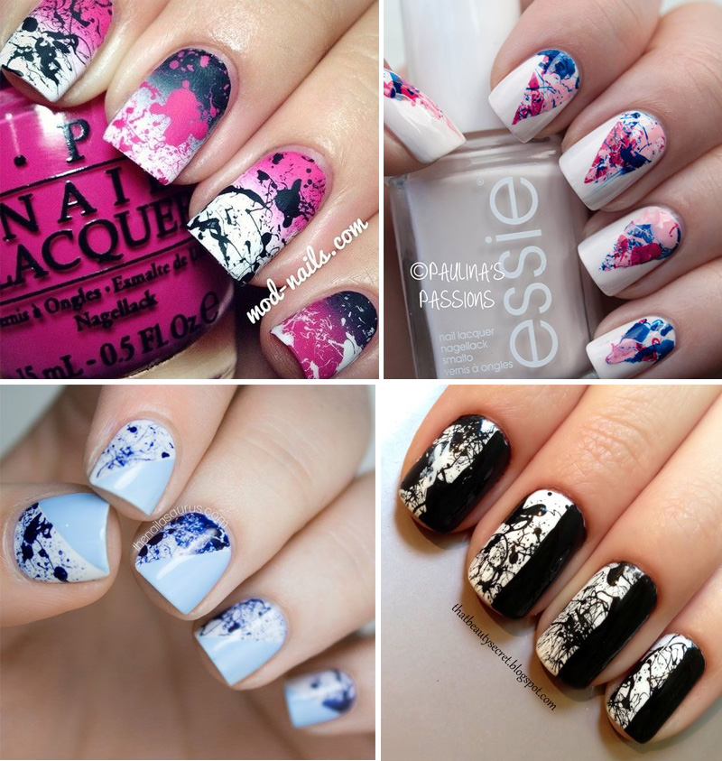 unghie-spatter-nails