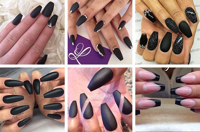 Unghie ballerina nere opache e lucide - In questo articolo tutto sulle unghie ballerina