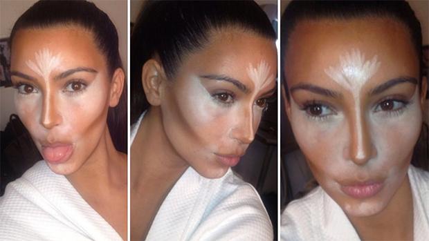 Il making off del contouring di Kim Kardashian