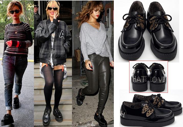 Le creepers indossate da Rihanna