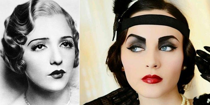 """Trucco in stile anni '20: quello originale e quello """"ispirato""""."""