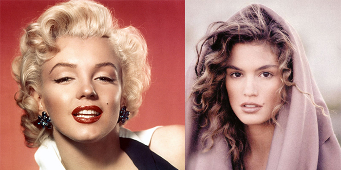 Marylin Monroe e Cindy Crawford