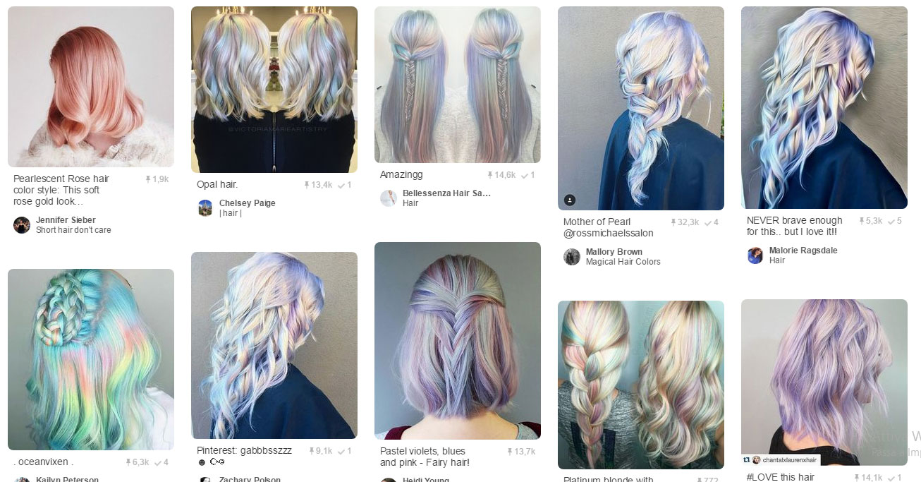 Perlescent Hair Trend su Pinterest