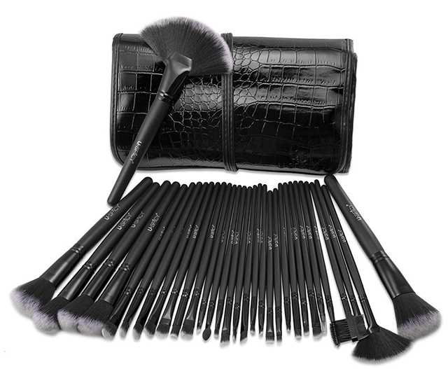 Pennelli Make Up USpicy Kit Pennelli Cosmetici con brush roll