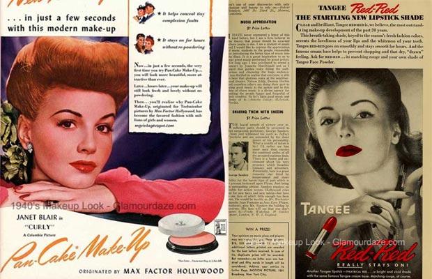 Pubblicità di trucco anni '40
