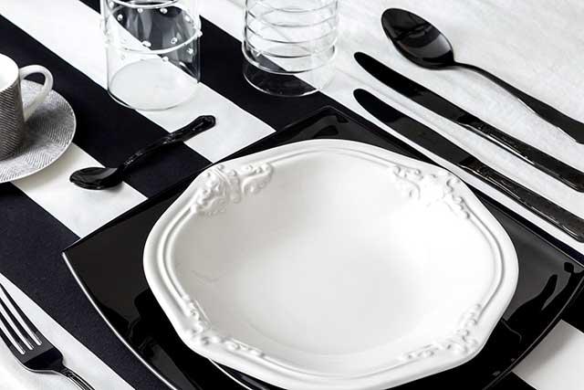 03-Dalani-tavola-Black-and-White-trend-Primavera-dettaglio