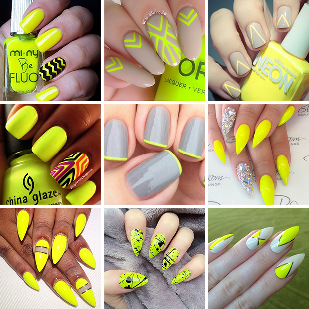 unghie-giallo-neon-yellow-nails