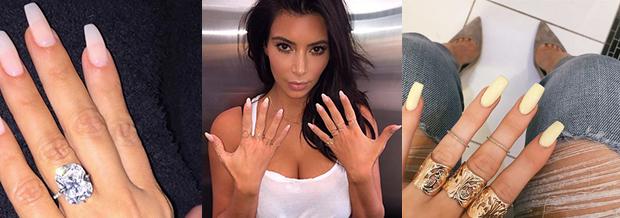 Unghie di Kin Kardashian e Kendal Jenner