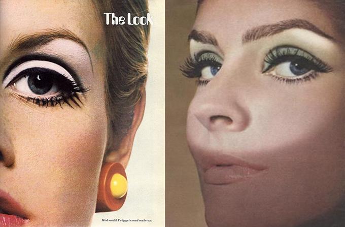 Super Trucco anni '60: foto e consigli. Twiggy, Audrey Hepburn. GY84