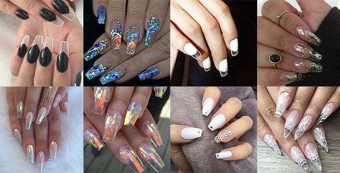 Unghie trasparenti o glass nails ideas.