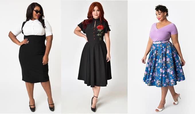hot sale online d9c9a b193c Vestiti pin up plus size per donne curvy - Donna e Dintorni